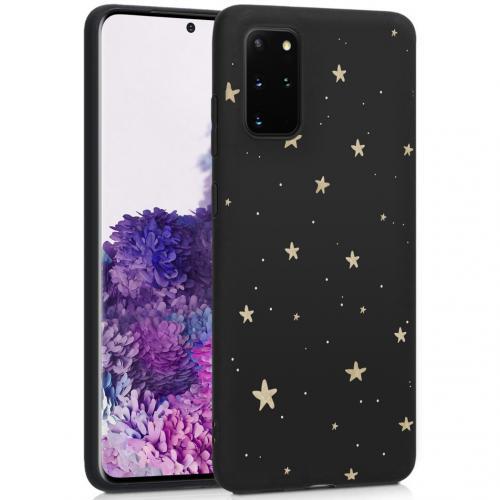 Design voor de Samsung Galaxy S20 Plus hoesje - Sterren - Zwart / Goud