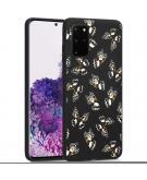 Design voor de Samsung Galaxy S20 Plus hoesje - Vlinder - Zwart / Wit