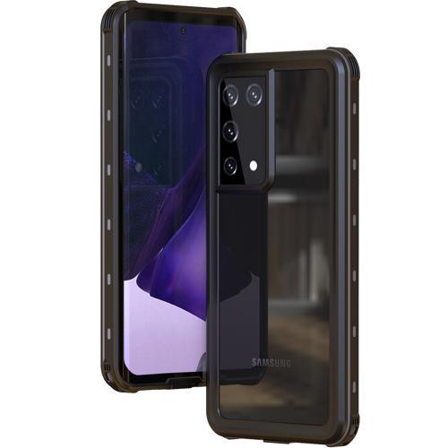 Dot Plus Waterproof Backcover voor de Samsung Galaxy S21 Ultra - Zwart