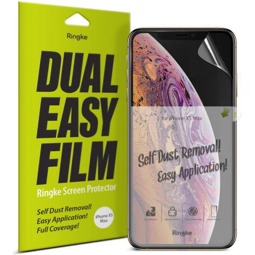 Dual Easy Anti-Stof Screenprotector Duo Pack voor de iPhone 11 Pro / Xs / X