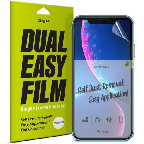 Dual Easy Anti-Stof Screenprotector Duo Pack voor de iPhone 11 / Xr