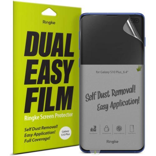 Dual Easy Screenprotector Duo Pack voor de Samsung Galaxy S10 Plus