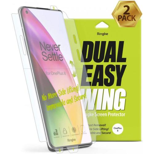 Dual Easy Wing Screenprotector Duo Pack voor de OnePlus 8