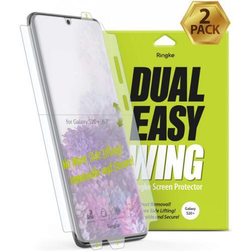 Dual Easy Wing Screenprotector Duo Pack voor de Samsung Galaxy S20 Plus