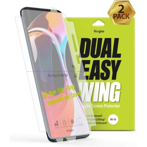 Dual Easy Wing Screenprotector Duo Pack voor de Xiaomi Mi 10 (Pro)