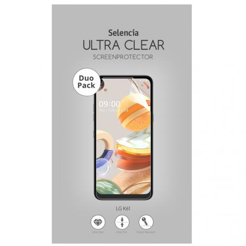 Duo Pack Ultra Clear Screenprotector voor de LG K61