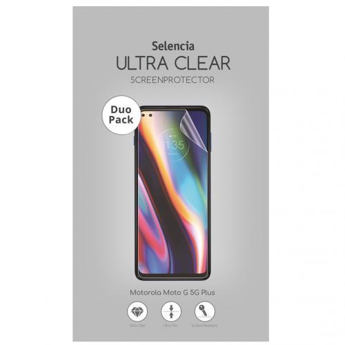Duo Pack Ultra Clear Screenprotector voor de Motorola Moto G 5G Plus