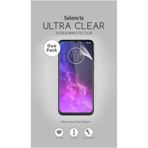 Duo Pack Ultra Clear Screenprotector voor de Motorola One Zoom