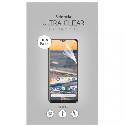 Duo Pack Ultra Clear Screenprotector voor de Nokia 5.3