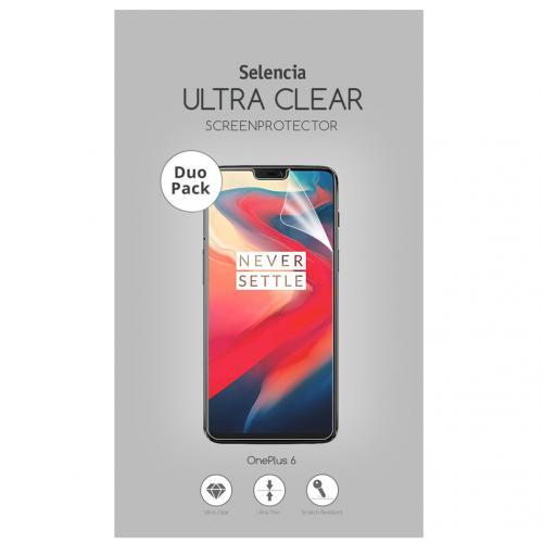 Duo Pack Ultra Clear Screenprotector voor de OnePlus 6