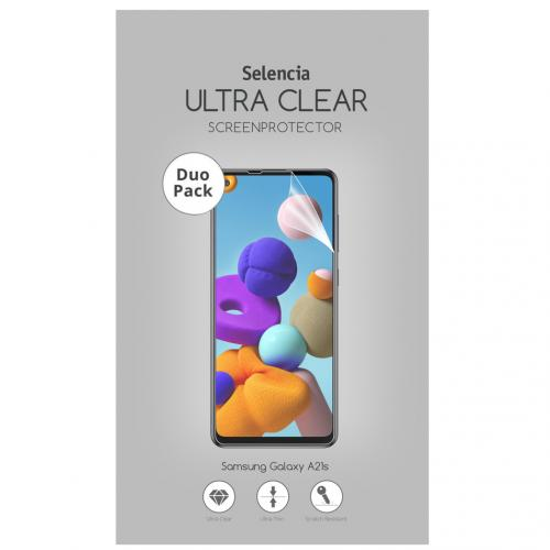 Duo Pack Ultra Clear Screenprotector voor de Samsung Galaxy A21s