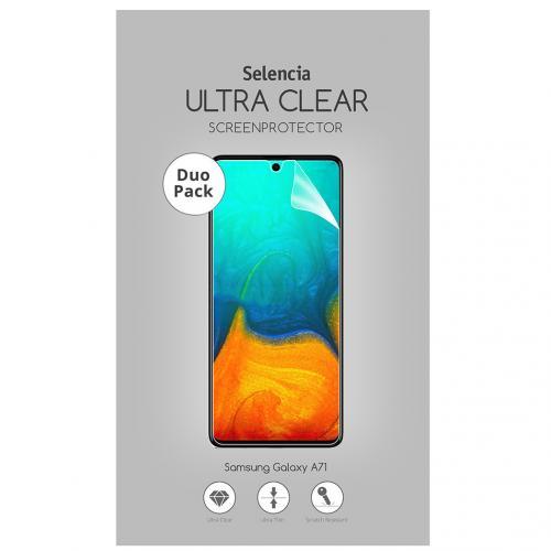 Duo Pack Ultra Clear Screenprotector voor de Samsung Galaxy A71