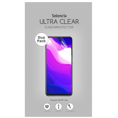 Duo Pack Ultra Clear Screenprotector voor de Xiaomi Mi 10 Lite