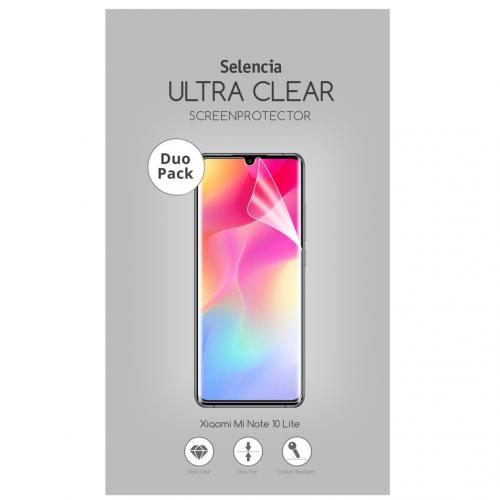 Duo Pack Ultra Clear Screenprotector voor de Xiaomi Mi Note 10 Lite