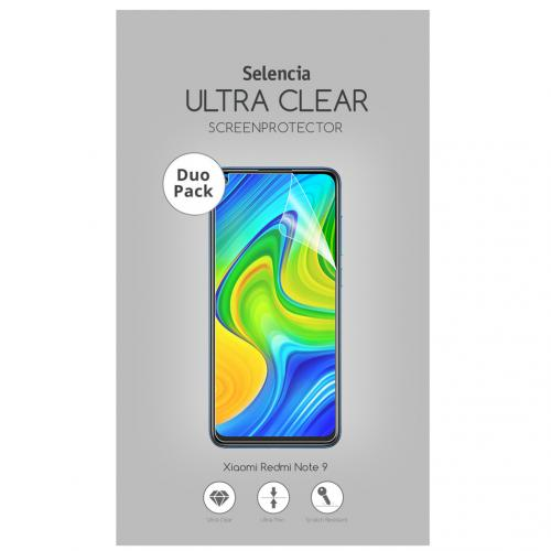 Duo Pack Ultra Clear Screenprotector voor de Xiaomi Redmi Note 9