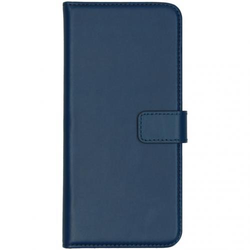 Echt Lederen Booktype Huawei Mate 30 - Blauw