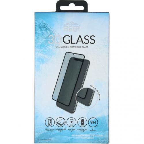 Edge to Edge Glass Screenprotector voor de iPhone 11 Pro Max - Zwart
