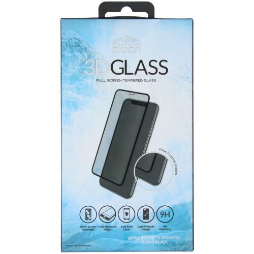 Edge to Edge Glass Screenprotector voor de iPhone 11 Pro - Zwart