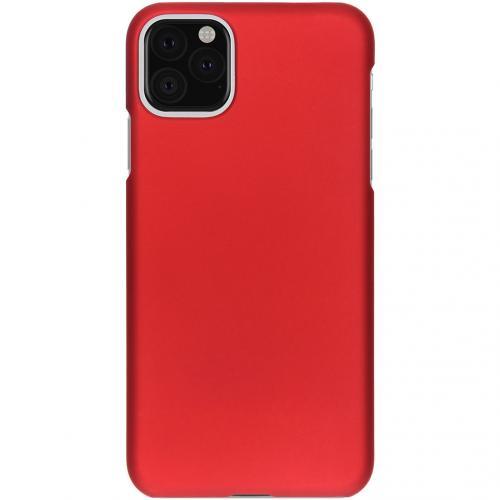 Effen Backcover voor de iPhone 11 Pro Max - Rood