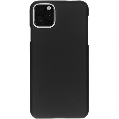 Effen Backcover voor de iPhone 11 Pro Max - Zwart