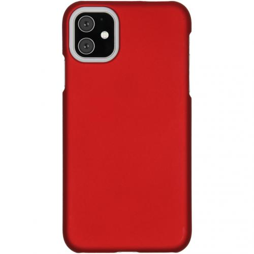 Effen Backcover voor de iPhone 11 - Rood