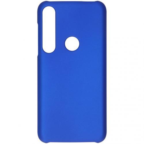 Effen Backcover voor de Motorola Moto G8 Plus - Blauw