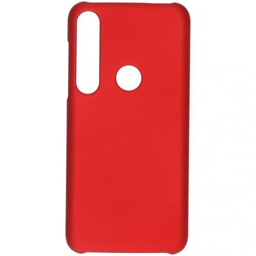 Effen Backcover voor de Motorola Moto G8 Plus - Rood