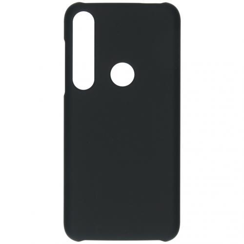 Effen Backcover voor de Motorola Moto G8 Plus - Zwart