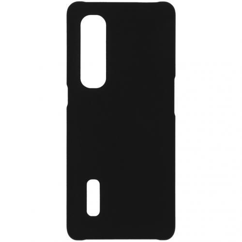 Effen Backcover voor de Oppo Find X2 Pro - Zwart