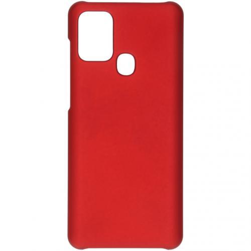Effen Backcover voor de Samsung Galaxy A21s - Rood