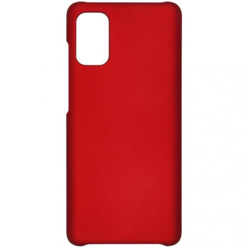Effen Backcover voor de Samsung Galaxy A41 - Rood