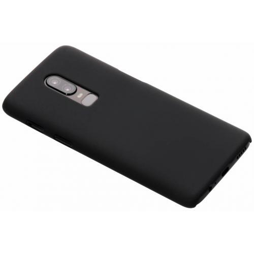 Effen Backcover voor OnePlus 6 - Zwart