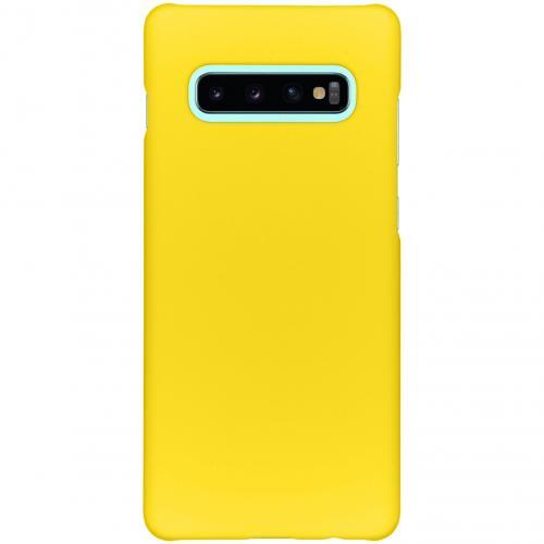 Effen Backcover voor Samsung Galaxy S10 Plus - Geel