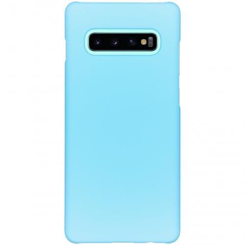 Effen Backcover voor Samsung Galaxy S10 Plus - Lichtblauw