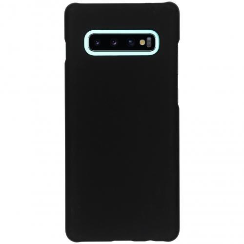 Effen Backcover voor Samsung Galaxy S10 Plus - Zwart