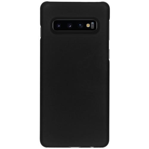 Effen Backcover voor Samsung Galaxy S10 - Zwart