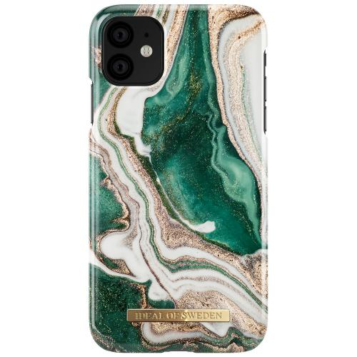 Fashion Backcover voor de iPhone 11 - Golden Jade Marble