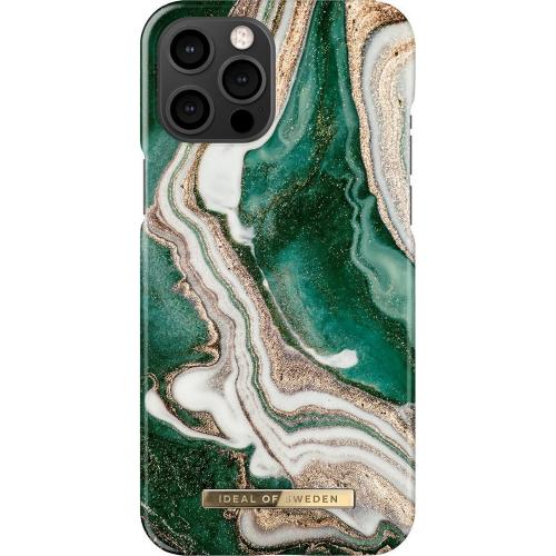 Fashion Backcover voor iPhone 12 Pro Max - Golden Jade Marble