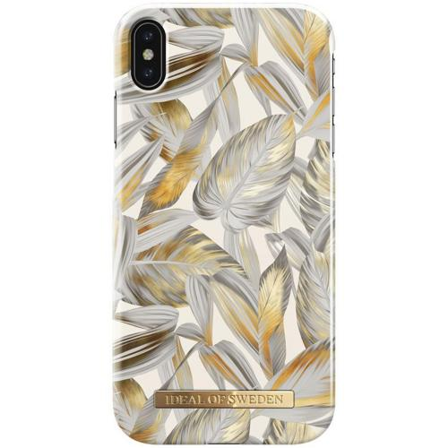 Fashion Backcover voor iPhone Xs Max - Platinum Leaves