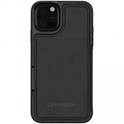 Flip Wallet Case voor de iPhone 11 Pro Max - Zwart