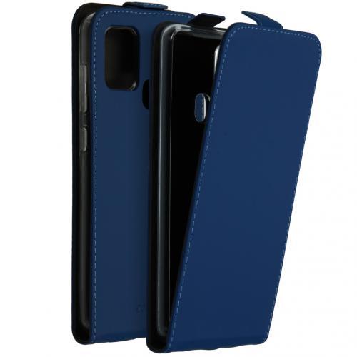 Flipcase voor de Samsung Galaxy A21s - Blauw