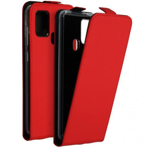 Flipcase voor de Samsung Galaxy A21s - Rood