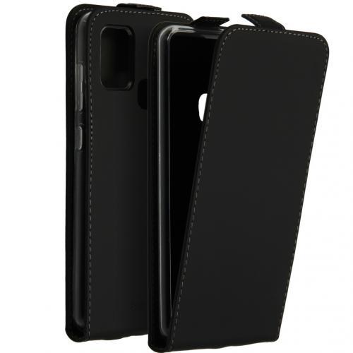 Flipcase voor de Samsung Galaxy A21s - Zwart