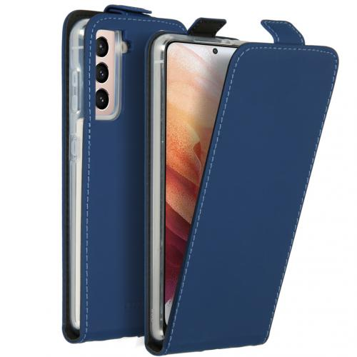 Flipcase voor de Samsung Galaxy S21 - Donkerblauw