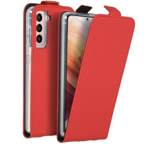 Flipcase voor de Samsung Galaxy S21 - Rood