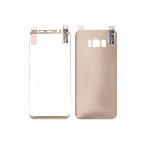 Front + Back Screenprotector voor Samsung Galaxy S8 Plus - Goud