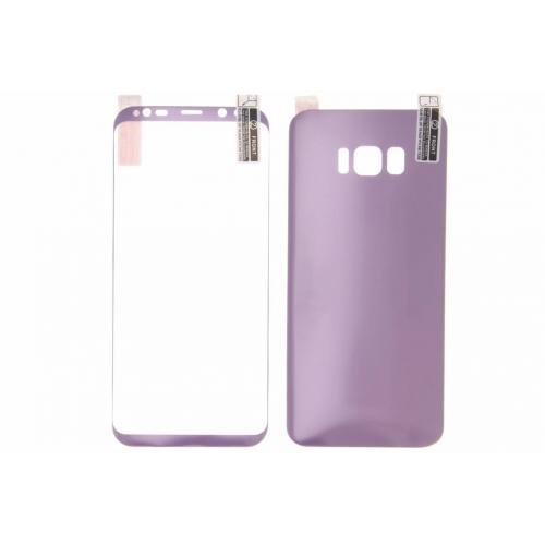 Front + Back Screenprotector voor Samsung Galaxy S8 Plus - Paars