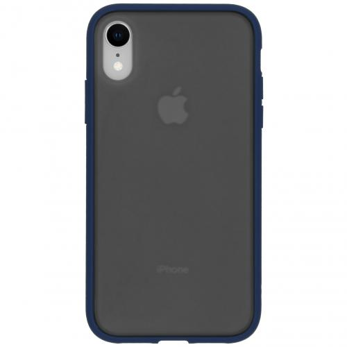 Frosted Backcover iPhone Xr - Blauw