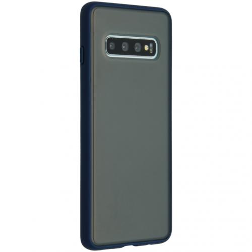 Frosted Backcover Samsung Galaxy S10 - Blauw