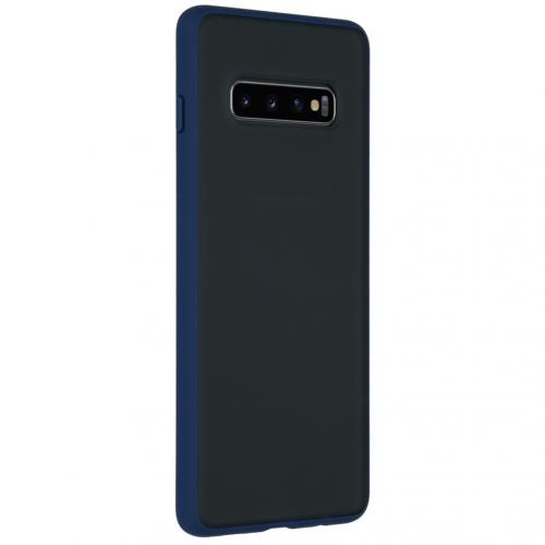 Frosted Backcover Samsung Galaxy S10 Plus - Blauw